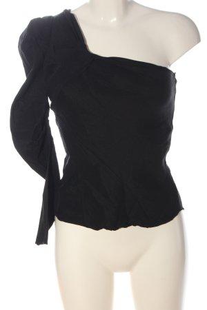 Zara Top asymétrique noir élégant