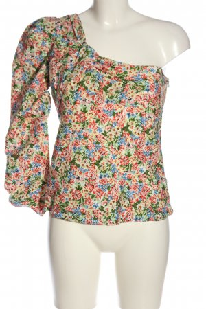 Zara One Shoulder Shirt allover print casual look
