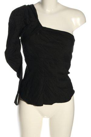 Zara Camisa de un solo hombro negro look casual