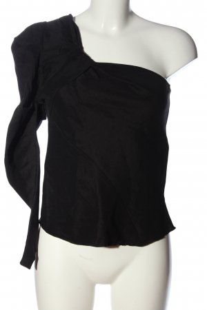 Zara One Shoulder Shirt black elegant