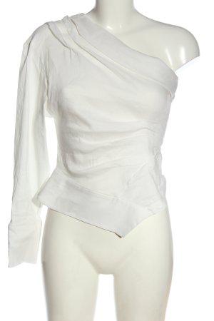 Zara Top na jedno ramię  biały Elegancki