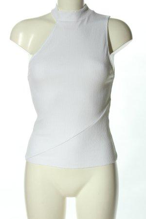 Zara Haut avec une épaule dénudée blanc style décontracté