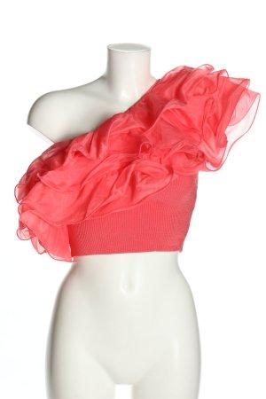 Zara Haut avec une épaule dénudée rose style décontracté