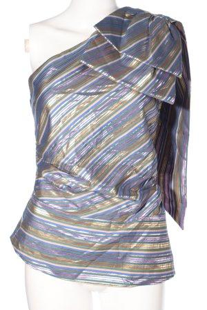 Zara One Shoulder Top allover print wet-look