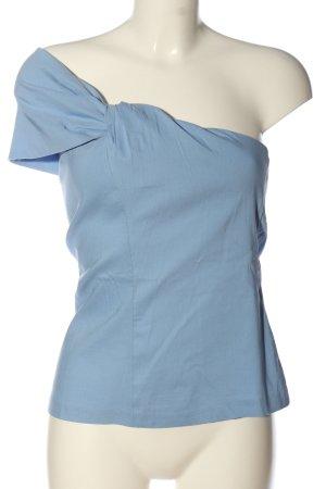 Zara Top monospalla blu stile casual