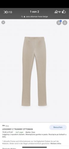 Zara Pantalon pattes d'éléphant beige-crème