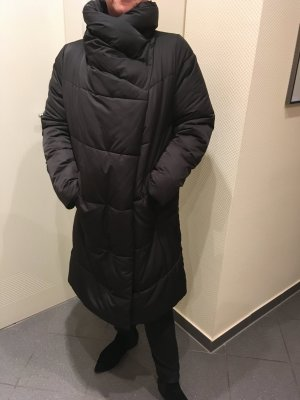 Zara Women Abrigo acolchado negro poliamida