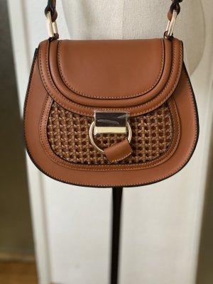 ZARA oval crossbody bag with ring