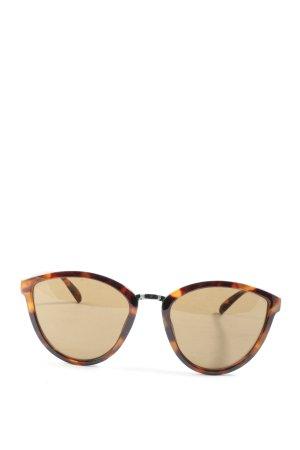 Zara ovale Sonnenbrille braun-hellorange Leomuster Casual-Look