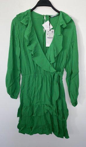 Zara Flounce Dress green