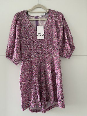Zara Overall Kleid Mini Lila, grösse S