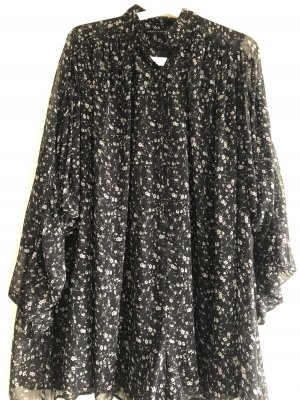 Zara Kombinezon czarny-w kolorze białej wełny