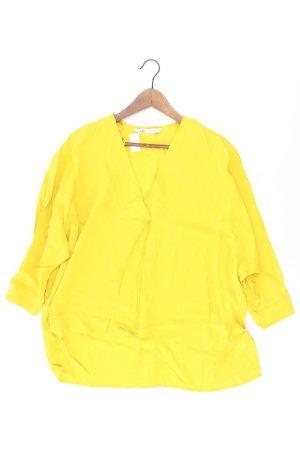 Zara Oversize-Bluse Größe XS gelb aus Polyester