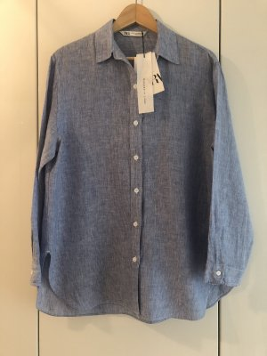 Zara - Oversize-Hemd aus 100 % Leinen