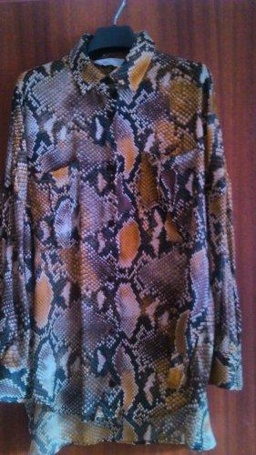 Zara Oversize Hemd-bluse mit Schlangenprint