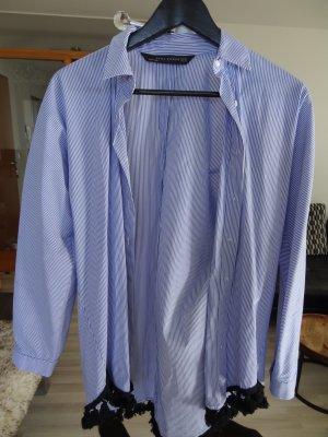 ZARA Oversize-Hemd, Gr. XS, Blau-Weiß gestreift, Neu!!