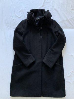 Zara Wool Coat black wool