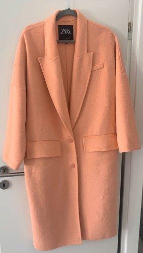 Zara Oversized jas abrikoos-nude Wol