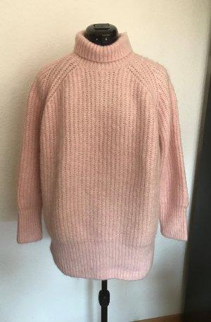 Zara Oversize Pullover in Rose mit Alpaca / Wolle Anteil Gr.M neu mit Etikett
