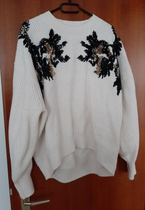 Zara Oversize Pullover Pulli Strick Grobstrick Pailletten