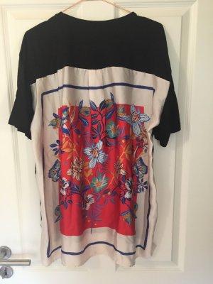 Zara Oversized shirt veelkleurig Katoen