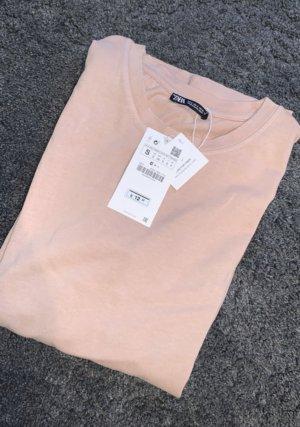 Zara Camisa holgada rosa empolvado-rosa