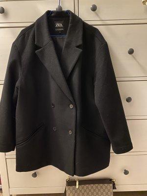 Zara Woman Blazer en laine noir