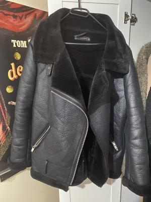 Zara oversized Bikerjacke für winter
