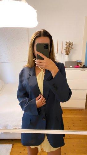 Zara Blazer stile Boyfriend blu fiordaliso-blu