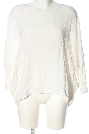 Zara Oversized Bluse weiß Casual-Look