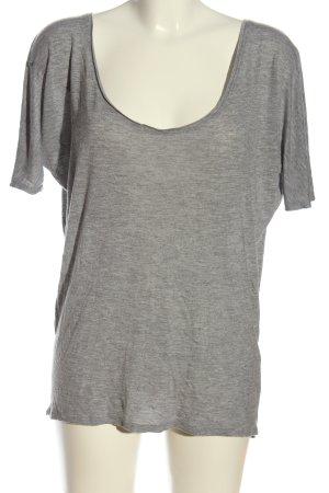 Zara Oversized Bluse hellgrau meliert Casual-Look