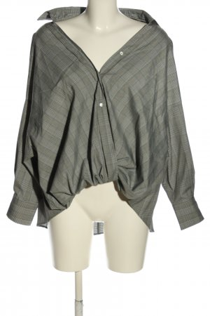 Zara Blouse oversized gris clair motif à carreaux style décontracté