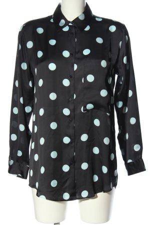 Zara Oversized Bluse schwarz-weiß Punktemuster Casual-Look