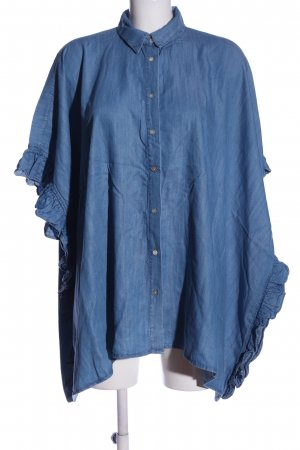 Zara Oversized Bluse blau Casual-Look