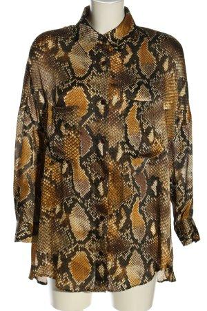 Zara Oversized Bluse Allover-Druck extravaganter Stil