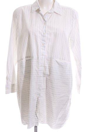 Zara Oversized Bluse weiß Streifenmuster Casual-Look