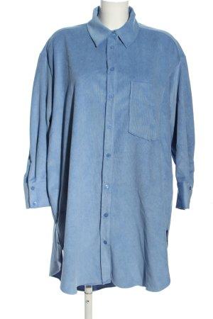 Zara Oversized Bluse blau Casual-Look