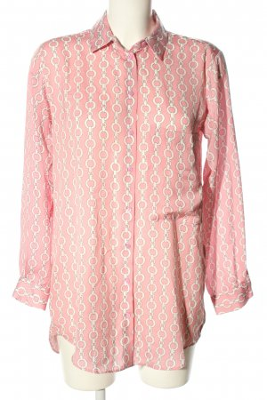Zara Oversized Bluse pink-creme Allover-Druck Casual-Look