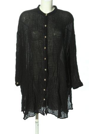 Zara Oversized Bluse schwarz Casual-Look