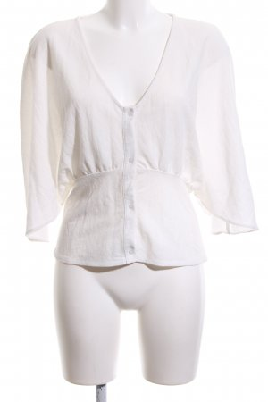 Zara Oversized Bluse weiß Business-Look