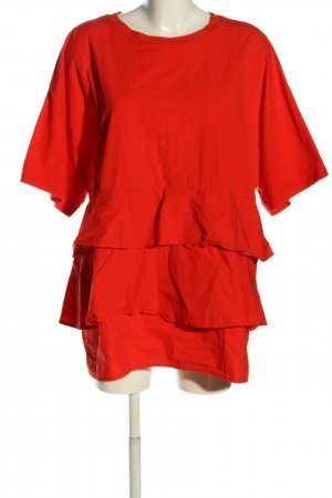 Zara Oversized Bluse rot Casual-Look