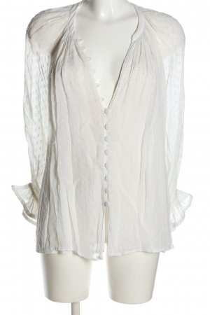 Zara Oversized Bluse weiß abstraktes Muster Casual-Look