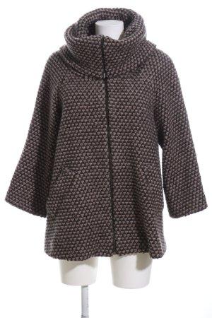 Zara Oversized Jacke braun-schwarz Allover-Druck Casual-Look