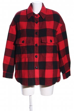 Zara Oversized Jacket black-red check pattern casual look