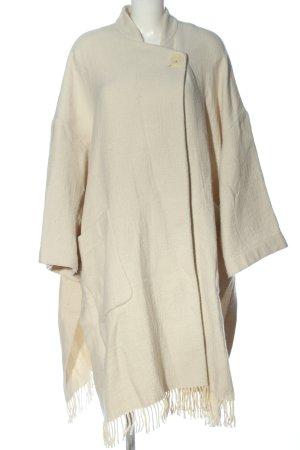 Zara Oversized Mantel creme Casual-Look