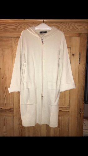 Zara Woman Abrigo ancho blanco puro