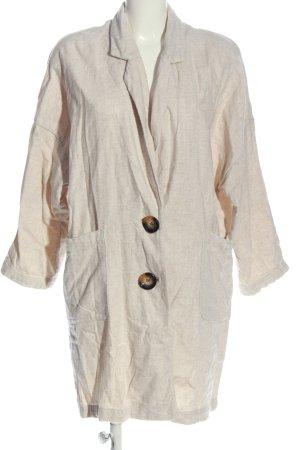 Zara Abrigo ancho blanco puro look casual