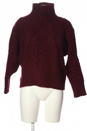 Zara Oversized Pullover rot Casual-Look