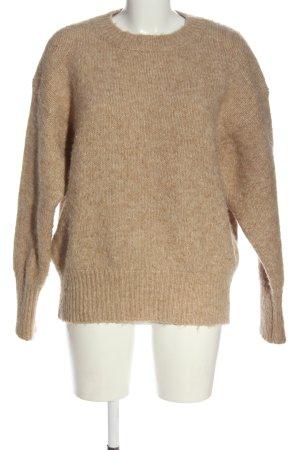 Zara Oversized Pullover braun meliert Casual-Look