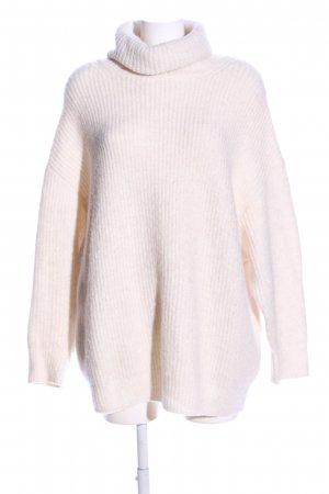 Zara Oversized Pullover wollweiß Casual-Look